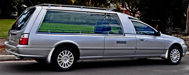 A hearse for funeral transport in Adelaide